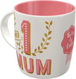 Taça mug. NUMBER 1 MUM.  330 ml.  Nostalgic-Art