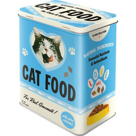 Capsa Metall L // Caja Metal L. CAT FOOD.  10 x 14 x 20 cm.  Nostalgic-Art