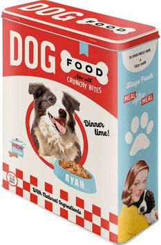 Capsa Metall XL. DOG FOOD.  Nostalgic-Art