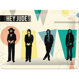 Placa Metall. THE BEATLES HEY JUDE. 15x20 cm.  Nostalgic-Art