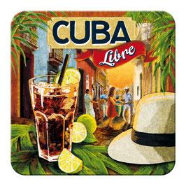 Pack 5. Posavasos // Rodals. CUBA LIBRE. 9x9 cm. Vintage
