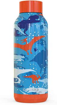"Botella Tèrmica Quokka Kids ""DINOS"" // 0,510 litres. Acer Inox."