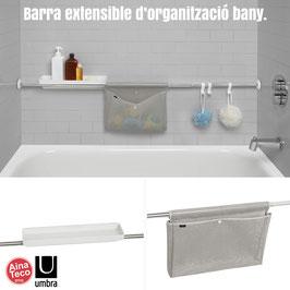 Barra extensible organitzador bany. SURE LOCK by Umbra.