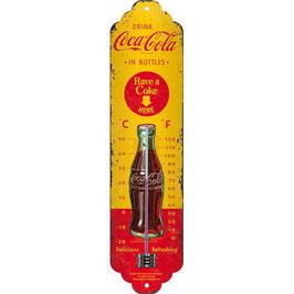 Termòmetre // Termómetro.  COCACOLA Yellow. Vintage