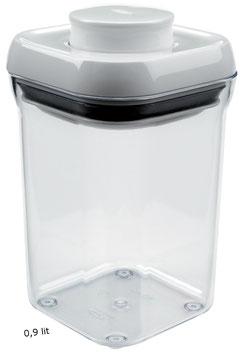 POP Container OXO. Quadrat Estret. Cuadrado Estrecho. 0,9 litrs.