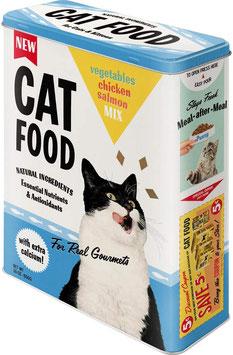 Capsa Metall XL // Caja Metal XL. CAT FOOD. 8 x 19 x 26 cm.  Nostalgic-Art