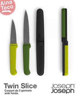 Set de 2 ganivets amb funda, Twin Slice by JosephJoseph.
