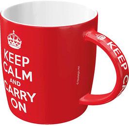 Taça mug. KEEP CALM. 330 ml.  Nostalgic-Art