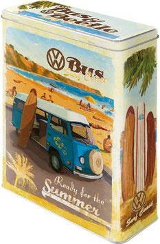 Capsa Metall XL. VW BULLI SUMMER.  Nostalgic-Art