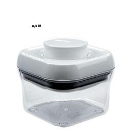 POP Container OXO. Quadrat Estret. Cuadrado Estrecho. 0,3 litrs.