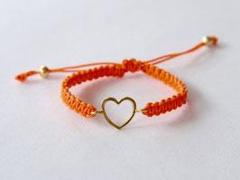 HEART KIDS Bracelet Orange