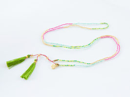 BOHO Necklace Pink & Green