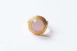 VINTAGE DOT Rosenquarz Ring