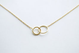 TWO CIRCLES TWISTED SMALL Necklace