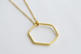 BIG HEXAGON Necklace