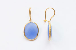 SINGLE DROP THIN Blauer Chalcedon