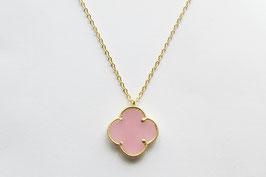 CLOVER Rosenquarz Necklace