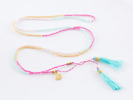 BOHO Necklace Pink & Blue