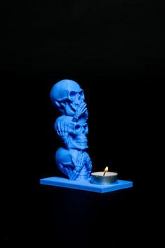 Kerzenhalter Totenkopf