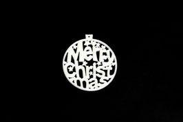 "Weihnachtsbaumkugel ""Merry Christmas"""