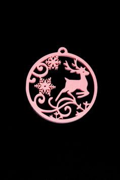 Hirsch mit Schneeflocken (groß)