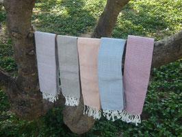 ヨーンさんの手織りコットンスカーフ