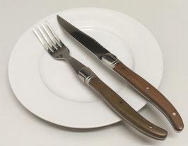 Steakmesser und Gabel 3er-Set