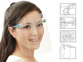 Gesichtsschutzschild mit Brillengestell
