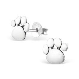 925 Silber Pfoten-Tatzen Ohrringe