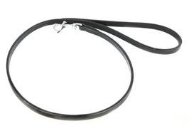 Hunde Leder Leine aus weichem Rindsleder in schwarz - Einzelleine - Führleine - sehr gute Qualität