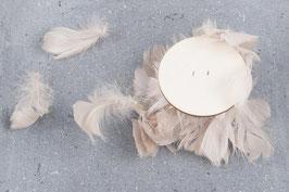 Feder Girlande , Federband, 300 cm auf Rolle