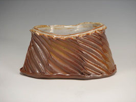 Oval wood-fired, wire cut vessel