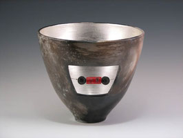 Window Bowl with Red Coral and Lava