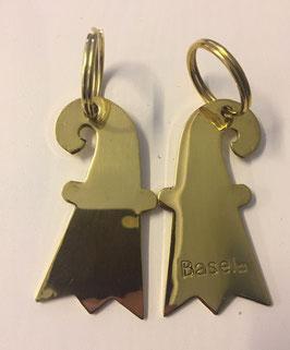 Schlüsselanhänger Baslerstab gold