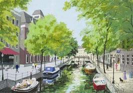 朝のアムステルダム