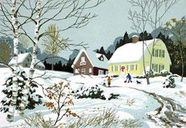初雪のボストン