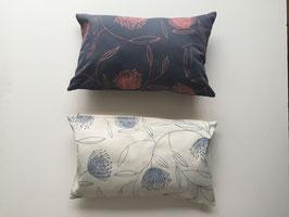 Kissenbezug 30x50, botanisches Motiv, handbedruckt