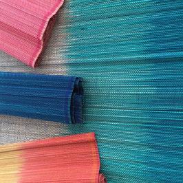 bunte Bambus-Tischsets, handgefertigt