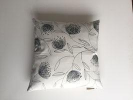 Kissenbezug 50x50, botanisches Motiv, handbedruckt