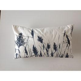 30x50cm Kissen Wildrhubarb - Gräser auf weiß