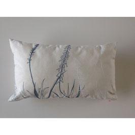 30x50cm Kissen Wildrhubarb - Pflanzen auf creme
