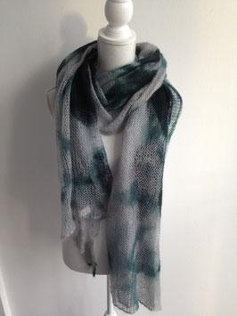 Schal aus fein gewebter Merino-Wolle 180x90cm, grün