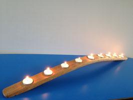 Teelichthalter aus dem Holz alter Weinfässer