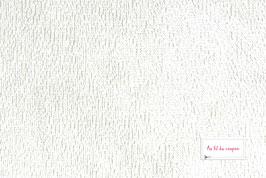 "Tissu éponge Bambou certifié OEKO-TEX® ""BLANC"""