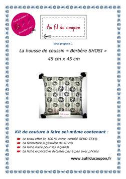 "Kit de couture facile: La housse de coussin ""Berbere SHOSI"" OEKO-TEX®"