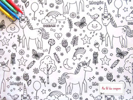 "Tissu à colorier 100 % coton certifié OEKO-TEX® ""BELIEVE"""