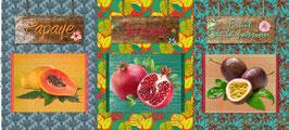 "Tissu sergé créatif certifié OEKO-TEX® ""Tropicales"" 73 cm X 160 cm"