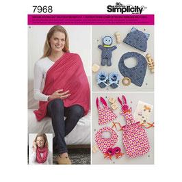 """Patron de couture Simplicity 7968  """"Accessoires bébé"""""""