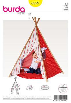 """Patron de couture BURDA 6559 """" Tente pour enfants """""""