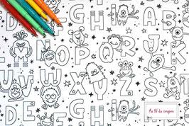 """Tissu à colorier 100 % coton certifié OEKO-TEX® """"KRYPTON"""""""